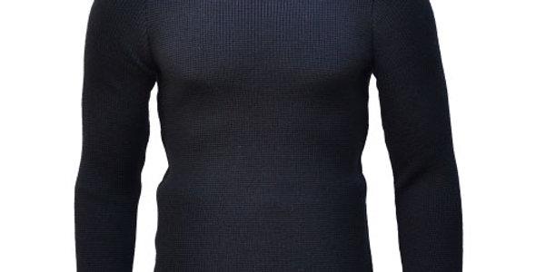 Fitted Merino wool Submariner Sweater ジャストフィット メリノウール サブマリナー セーターブラック