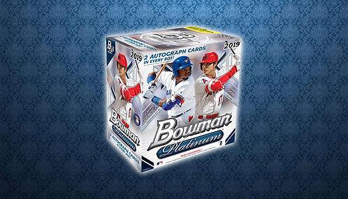 2019 Bowman Platinum 1 Box Break #1-RT