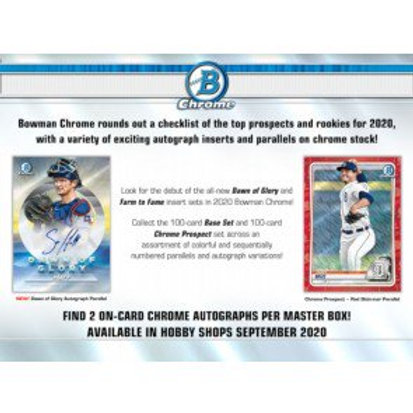 2020 Bowman Chrome Hobby 1 Box Break #1-RT