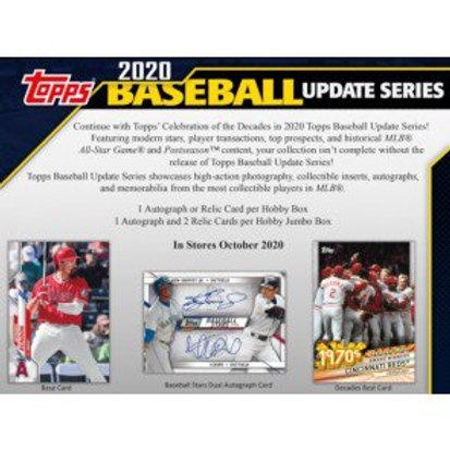Dual MLB Box #1 - 2020 Topps Update Jumbo & Hobby - RT