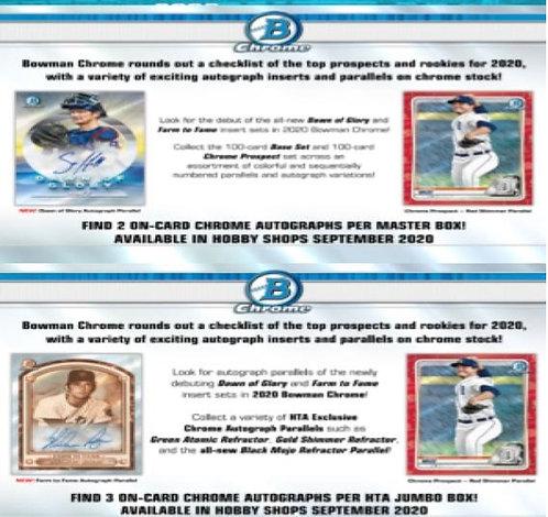Dual MLB Box #4 - 2020 Bowman Chrome HTA & 2020 Bowman Chrome Hobby - 3X RT
