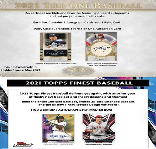 Dual MLB Box #1 - 2021 Topps Finest & 2021 Topps Tier One - Random Divisions