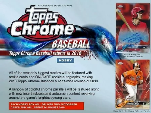 2018 Topps Chrome Hobby 1 Box Break #2-PYT