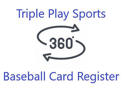 TPS360 Baseball Card Register 1 Box Break #1-Random Players