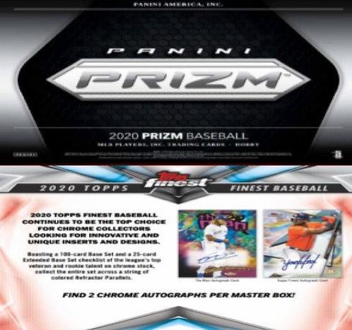 Dual MLB Box #1 - 2020 Topps Finest & 2020 Panini Prizm - Random Divisions
