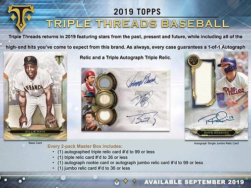 2019 Topps Triple Threads 1 Box Break #2-Random Divisions