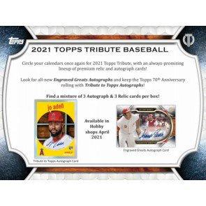 2021 Topps Tribute 1 Box Break #2-Random Pack