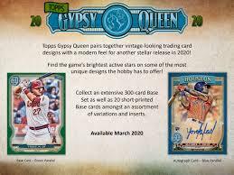 2020 Topps Gypsy Queen 5 Box 1/2 Case Break #1-PYT