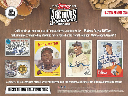2020 Topps Archives Retired Player Edition 5 Box Break #1-Random Players