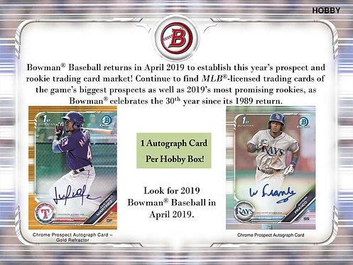 2019 Bowman Baseball Hobby 1 Box Break #2-RT