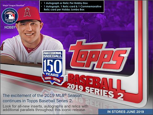 2019 Topps Series 2 Jumbo 1 Box Break #1-PYT