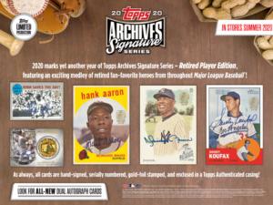 2020 Topps Archives Signature Series Retired Player 10 Box 1/2 Case Break #1-RT