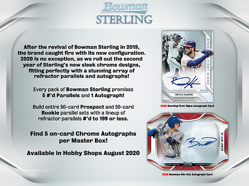 2020 Bowman Sterling 1 Box Break #1-RT