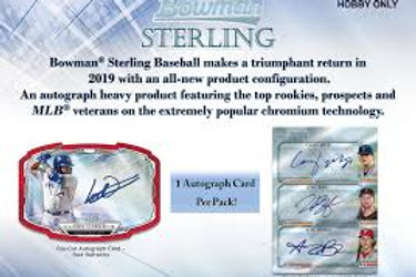 2019 Bowman Sterling 1 Mini Box Break #2-RT