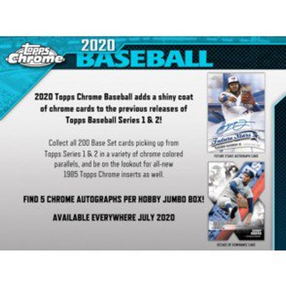 2020 Topps Chrome Jumbo 1 Box Break #6-PYT