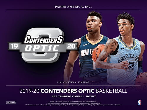 2019-20 Panini Contenders Optic Basketball 1 Box Break #3-Tiered Random Teams