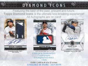 2019 Topps Diamond Icons 1 Box Break #1-PYT