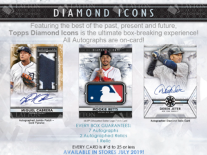 2019 Topps Diamond Icons 1 Box Break #1-PYT