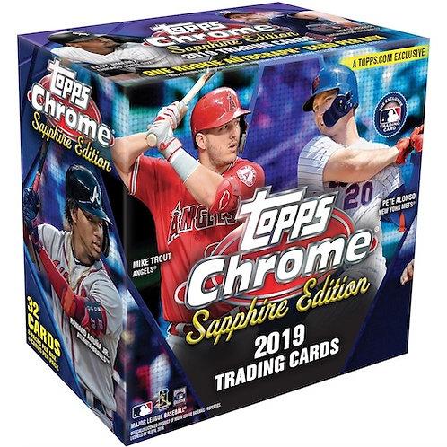 2019 Topps Chrome Sapphire 1 Box Break #1-Random Pack