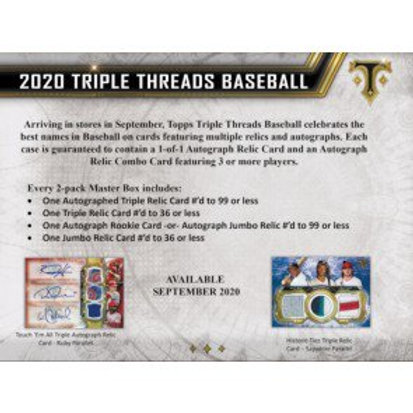 2020 Topps Triple Threads 1 Box Break #5-PYT