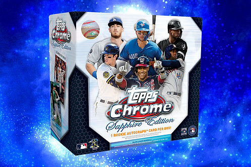 2020 Topps Chrome Sapphire 1 Box Break #2-Random Pack
