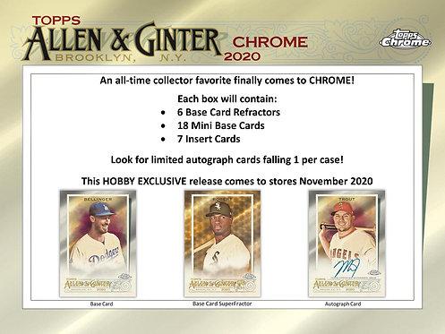 2020 Topps Allen & Ginter Chrome 1 Box Break #1-RT