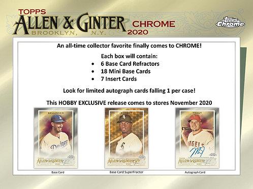 2020 Topps Allen & Ginter Chrome 1 Box Break #2-PYT