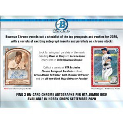 2020 Bowman Chrome HTA 1 Box Break #3-RT