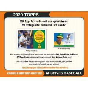 2020 Topps Archives 1 Box Break #1-PYT