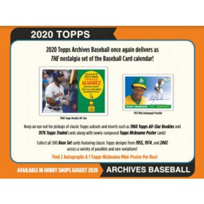 2020 Topps Archives 1 Box Break #1-PYT