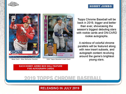 2019 Topps Chrome Jumbo Guaranteed Auto 4 Pack Break #1-RT
