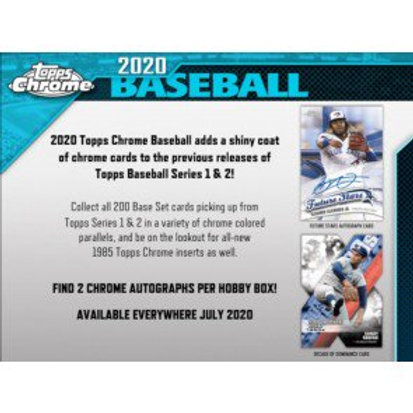2020 Topps Chrome Hobby 6 Box 1/2 Case Break #2-RT