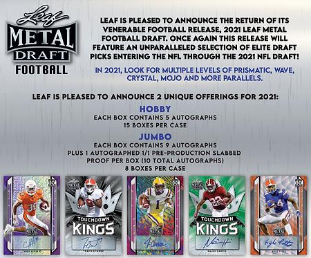 2021 Leaf Metal Draft Hobby Football 1 Box Break #1-PYT