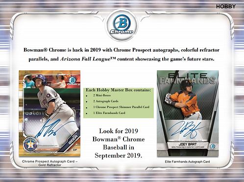 2019 Bowman Chrome Hobby 1 Mini Box Break #8-PYT