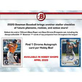 2020 Bowman Baseball Hobby 1 Box Break #2-RT