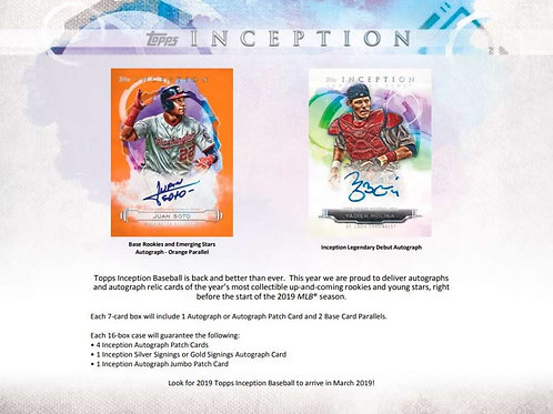 2019 Topps Inception 1 Box Break #3-PYT