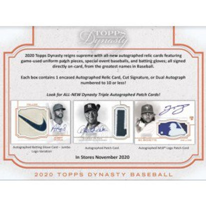 2020 Topps Dynasty 1 Box Break #1-Random Players