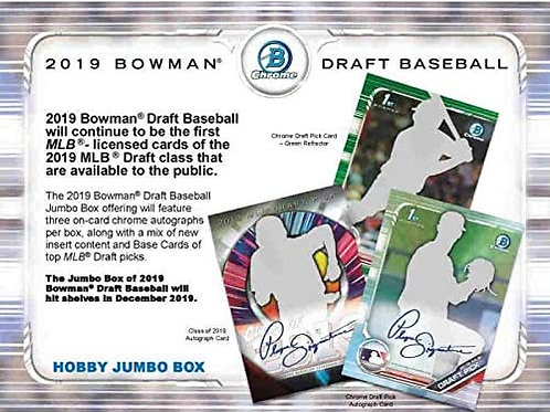 2019 Bowman Draft Jumbo 1 Box Break #3-PYT