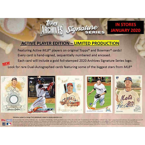 2020 Topps Archives Signature Series Active Player 1 Box Break #2-RT