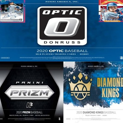 2020 Panini 3 Box Prizm Quick Pitch, Diamond Kings, Optic Mixer #1-PYT