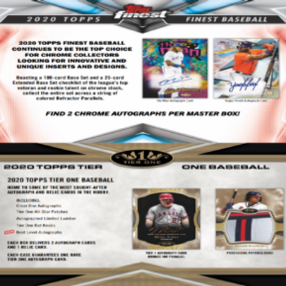 Dual MLB Box #1 - 2020 Topps Finest & 2020 Topps Tier One - PYT