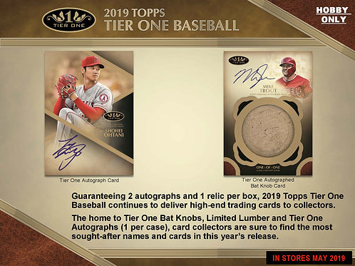 2019 Topps Tier One 1 Box Break #2-PYT