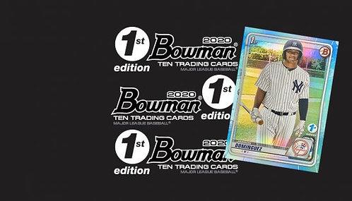 2020 Bowman 1st Edition 1 Box Break #6-PYT