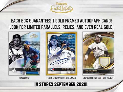 2020 Topps Gold Label 8 Box 1/2 Case Break #1-PYT