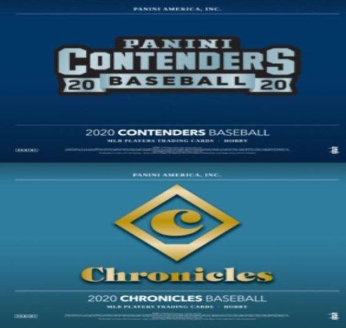 Dual MLB Box #1 - 2020 Panini Chronicles & Contenders - Random Divisions
