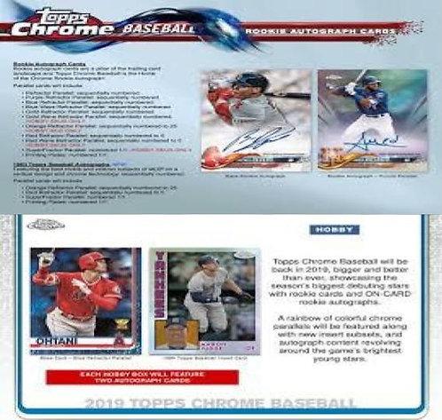 Dual MLB Box #1 - 2018 Topps Chrome Hobby & 2019 Topps Chrome Hobby - RT