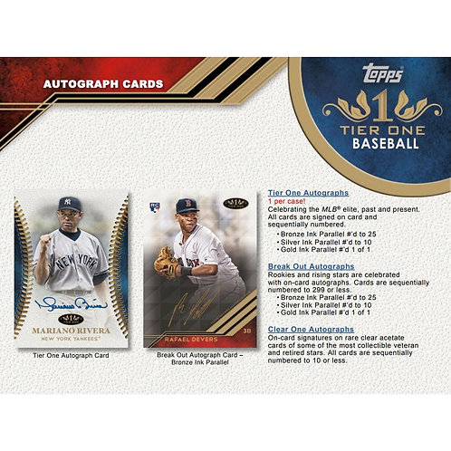 2018 Topps Tier One 1 Box Break #1-PYT