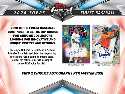 2020 Topps Finest 4 Box 1/2 Case Break #7-PYT