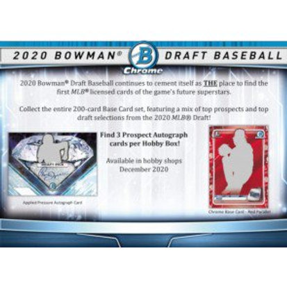 2020 Bowman Draft Jumbo 4 Box 1/2 Case Break #1-Pick Your Players
