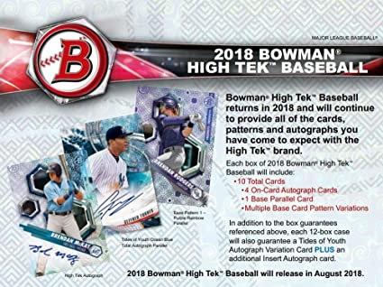 2018 Bowman High Tek 1 Box Break #1-Pick Your Players